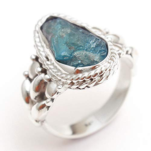 Apatite Handmade Gemstone Ring 925 Sterling Silver Men's Ring Designer Ring Unique Ring Silver Jewelry ()