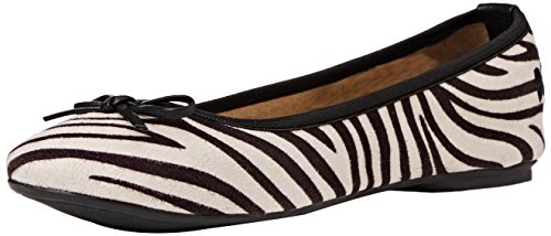 Butterfly White Flats Women's Zebra Cleo Twists Ballet rrFqX