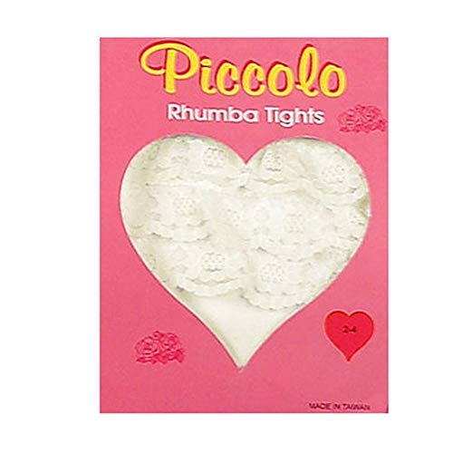 Newborn Infant Baby Girls IVORY Ruffle RHUMBA Tights PICCOLO Girl 12-24M ()