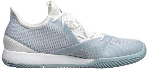 adidas Women's Adizero Defiant Bounce, ash Grey/White, 5 M US by adidas (Image #7)