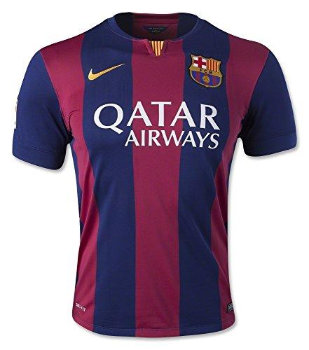 Barcelona 2014-15 Home Soccer Jersey Red/Blue #11 Neymar Jr Medium