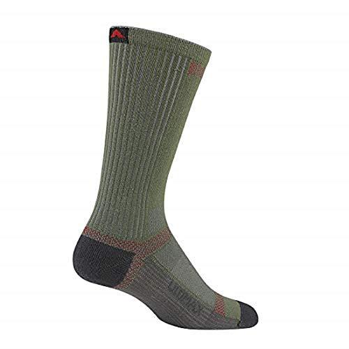 Wigwam Men's Ultra Cool-Lite Ultimax Ultra-Lightweight Crew Sock,Moss,Large/shoe Size:Men's 9-12,Women's ()