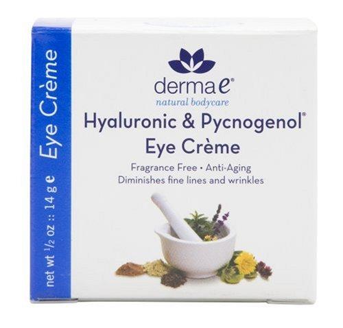 Derma e Pycnogenol and Hyaluronic Acid Eye Creme, 0.5 oz (14 g)
