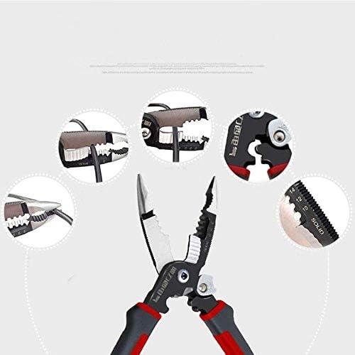 WY-WY 、屋外メンテナンスプライヤーで家の修理、適しプライヤー、8インチのワイヤー圧着ストリッププライヤー設定してみましょう私たちは、より強力なこと(色:赤みがかった黒、サイズ:8インチ) ラジオペンチ