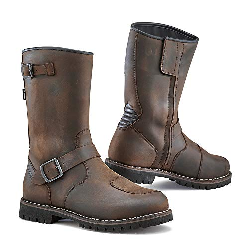TCX 7096 Fuel Waterproof Mens Street Motorcycle Boots - Vintage Brown Size Eu 45 / Us ()