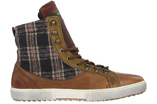 Pantofola d' Oro Crispino Worker High Men Sneaker brown leather + textil Braun