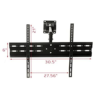 Full Motion Wall Mount Bracket LCD LED TV Flat Panel Plasma Swivel Tilt Fits 37 -70  Max Vesa 700mmx500mm up to 132lb Solid And Compact Design