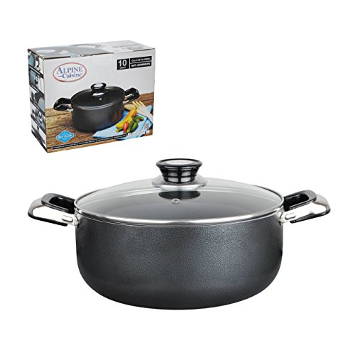 Aramco Alpine Gourmet Aluminum Non-Stick Coating Dutch Oven, 18 quart, Silver/Gray