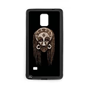 Samsung Galaxy Note 4 Cell Phone Case Black African Mask MWN3909387