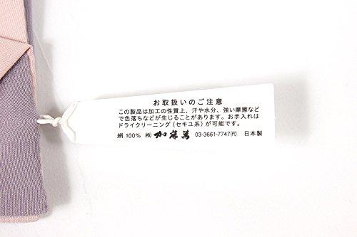 加藤萬?両面重ね衿 千草(無地) 藤色×桜色みふじ 加藤萬謹製 リバーシブル 重ね襟 女性用 広衿 着物 伊達衿 和装小物
