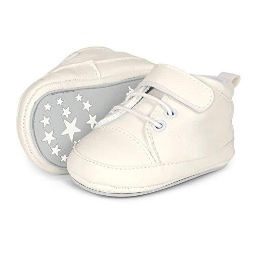Sterntaler Baby-schuh - Zapatillas de casa Bebé-Niños, Blanco (weiß 500), 17/18