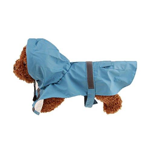 Mikey Store Pet Dog Raincoat, Waterproof Outdoor Hooded Rain Coat Jacket (Sky Blue, XS)
