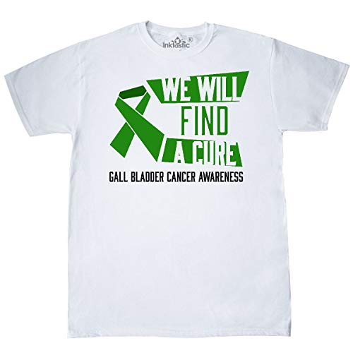 inktastic - We Will Find a Cure- Gall Bladder Cancer T-Shirt X-Large White 32ae3