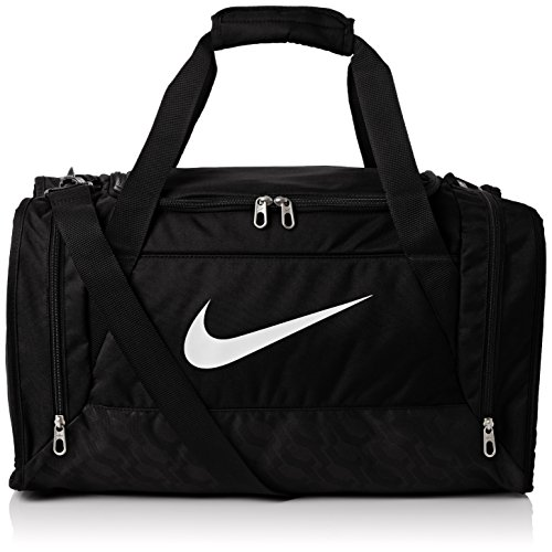 Nike Brasilia 6 Duffel Bag Black/White Size Small (Brasilia Nike Bag compare prices)