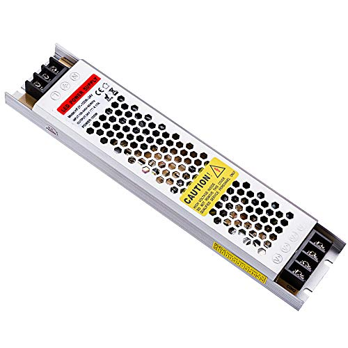 Idealy 100W Ultra-Thin DC 24V LED Power Supply Driver Electronic Transformer for Light Strip ()