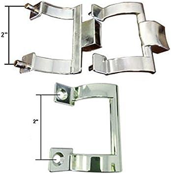 Cromado soportes para toallero de barra para mampara de ducha y interior mango pull Kit, 2