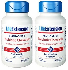 Life Extension Florassist Prebiotic 60 Chewable 2 Pack