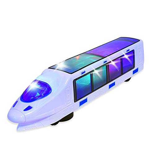 WEofferwhatYOUwant Electric Train Toy with Action Flashing Lights - Battery Powered. 3D Effect (Ages 3 yrs and up)