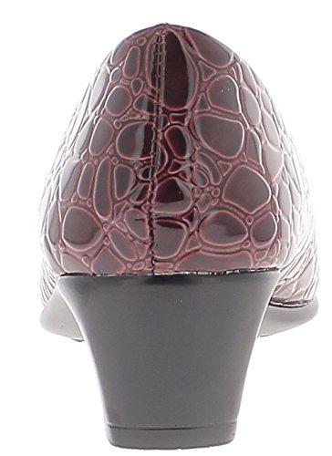 Zapatos Burdeos al bloque de cómoda cm talones 4