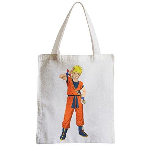 Große Tasche Sack Einkaufsbummel Strand Schüler Uzumaki Naruto Kostüm Dragon Ball