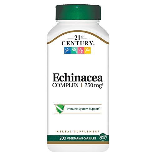 21st Century Echinacea Extract Veg Capsules, 200 Count Echinacea Angustifolia Standardized Extract