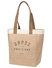 Now Designs Burlap Market Tote, Goods and Provisions (3014001)