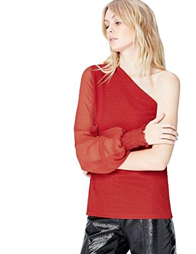 FIND Vestido Asimétrico para Mujer Rojo (Red)