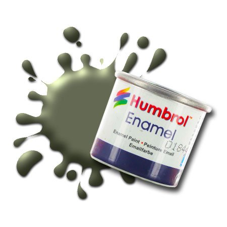 Humbrol Model Enamel Paint No.086 Matt Light Olive, ()