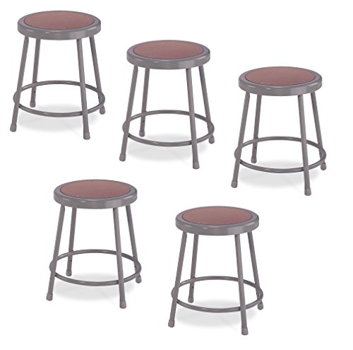 """(5 Pack) National Public Seating 18"""" Heavy Duty"""