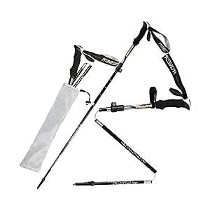 Bastones de Trekking Glyby, anti-choque sdintel bastones telescópicos pretérito ultralivianos ajustable para Escalada Montañismo rastro al viaje mochilero (fibra de carbono)