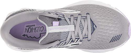 Brooks Women's Adrenaline GTS 19 Grey/Lavender/Navy 5 B US by Brooks (Image #1)