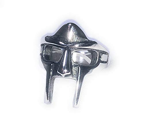 Doom MF Rapper Madvillain Gladiator Pharaoh Mask Steel Ring (9)