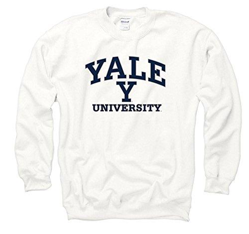 Shop College Wear Yale Bulldogs Men's Crew Neck Sweatshirt-White
