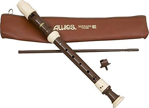 Aulos Classroom Recorder Soprano 3 Piece English A703B (Sopranos Recorder)