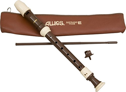 Aulos - Classroom Recorder - Light Brown Soprano 3 Piece English A703B