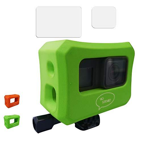Ho Stevie! Floaty Case + Screen Protectors for GoPro Hero 7, Hero 6, or Hero 5 [Choose Color] (Green)