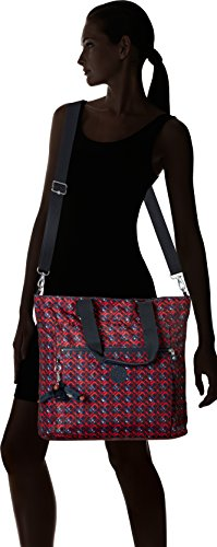 a1c0829a342 Lizzie Printed Laptop Tote Shoulder Bag, Groovy Lines, One Size by Kipling  (Image