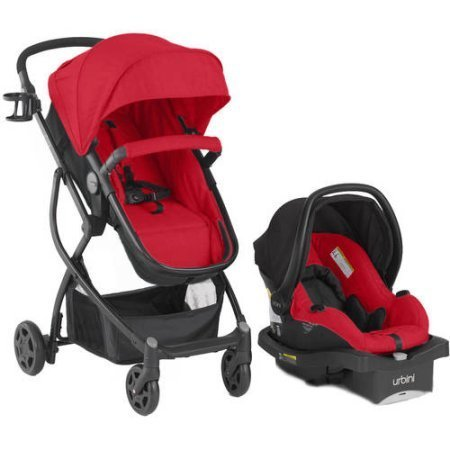 Urbini Omni Plus Travel System (Red)