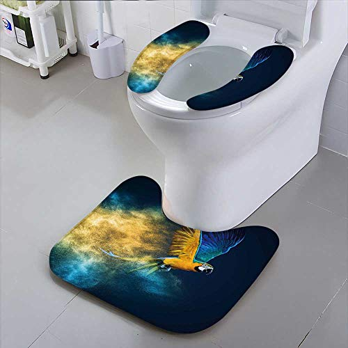 HuaWu-home The Toilet Condomflying ara Parrot Over Colourful Powder Explosion Bathroom Accessories
