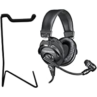 Audio Technica BPHS1 Broadcast Stereo Headset (with mic) w/ Desktop Headphone Stand