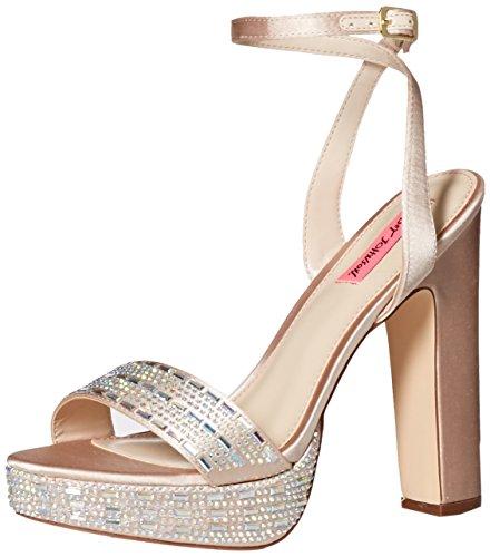 Betsey Johnson Women's Alliie Platform Dress Sandal, Champagne, 11 M (Betsey Johnson Ladies Platform)
