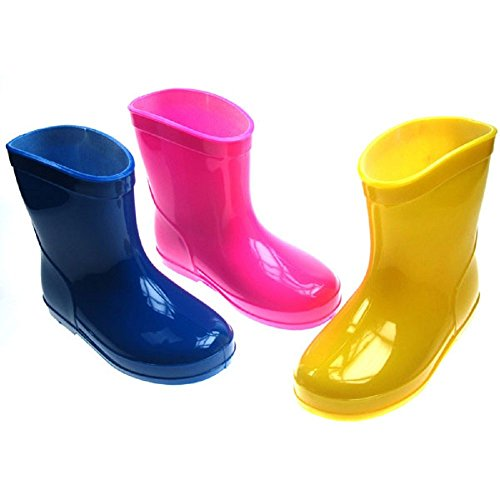 Soft Touch Baby Infant Toddler Rain Boots - Blue, Pink Yellow in Sizes...