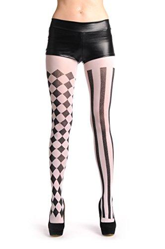 Checkered Thigh High Tights - 8