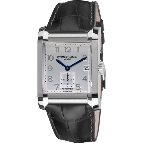 3ad91da0a0f Baume   Mercier Men s 10026 Silver Dial Black Strap Automatic Watch   2