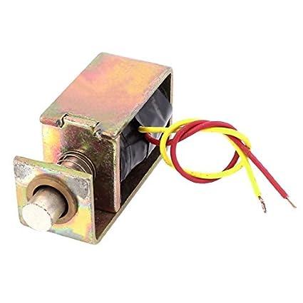 eDealMax DC 6V 8 mm 12g de bastidor abierto la cerradura de puerta eléctrica del electroimán