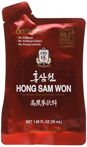 Ginseng Energy Drinks (Cheoung Kwan Jang - Red Ginseng Extract Drink 30 - 1.69 FL OZ Pouches, Net Wt, 50.7 FL OZ (1.5L))
