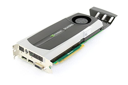 (HP 616078-001 NVIDIA Quadro 6000 PCIe graphics card - With 6.0GB GDDR5 GPU memory, max resolution 2560x1600, max power consumption 204Watt, one Dual Link DVI-I and two DisplayPorts connections )