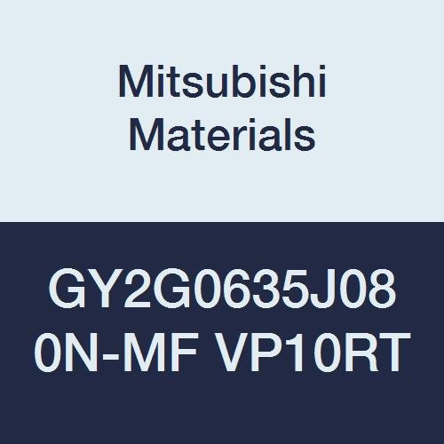 0.250 Grooving Width Ground Peripheral Pack of 10 Coated J Seat Mitsubishi Materials GY2G0635J080N-MF VP10RT Carbide GY Series Grooving Insert Neutral Hand 0.031 Corner Radius