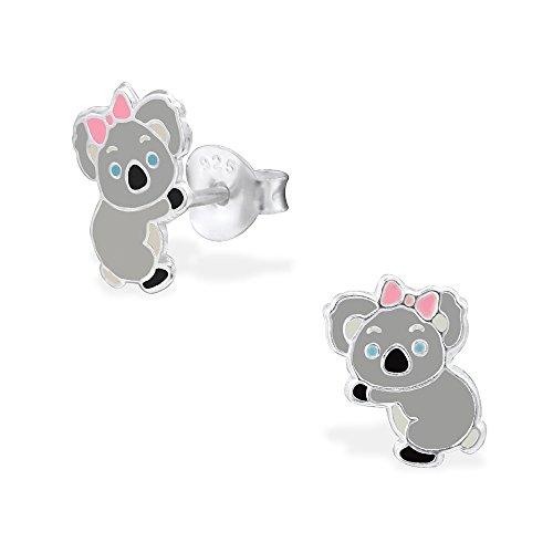 Hypoallergenic Koala Stud Earrings for Girls (Nickel Free and Safe for Sensitive (Sterling Silver Koala)