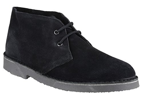 Cotswold Mens Mens Sahara Lace Up Suede Leather Lined Desert Boot Black Black Suede UK Size 12 (EU 47)
